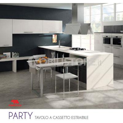 Dispositivo Party per tavolo a cassetto estraibile, piano 1450 mm ...