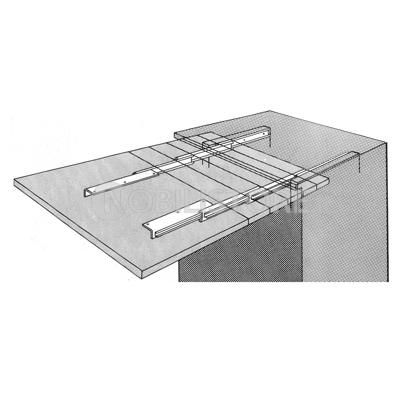 Guida telescopica per tavoli