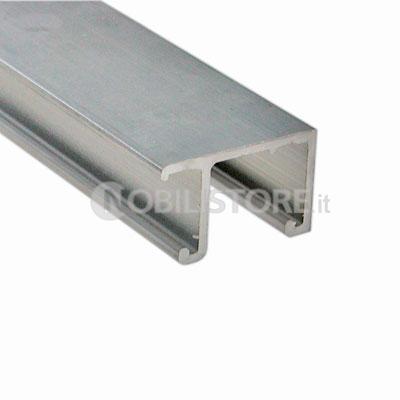 Binari Per Ante Scorrevoli In Vetro.Binario System 1010 Doppio Di Scorrimento Superiore In Alluminio