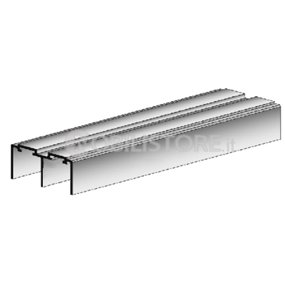 Binari Per Ante Scorrevoli.Binario Alluminio Per Ante Scorrevoli Isolamento Cassonetti Tapparelle