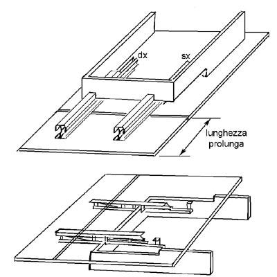 Guida per tavolo con telaio allunga laterale nobili ferramenta - Guide per tavoli allungabili ...