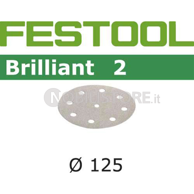 Disco abrasivo Festool Brilliant 2 � 125 mm forato