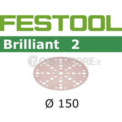 Disco abrasivo Festool Brilliant 2 � 150 mm forato