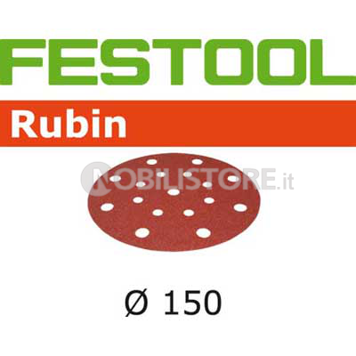 Disco abrasivo Festool Rubin 2 � 150 mm forato