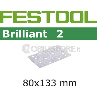 Foglio abrasivo Festool Brilliant 2  80x133 mm forato