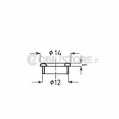 Tappo copriforo metallo aperto | 0032315 | Effegibrevetti ...