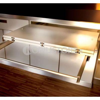 Dispositivo Lunch per tavolo a cassetto estraibile, piano ...