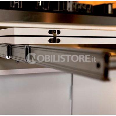 Dispositivo Lunch per tavolo a cassetto estraibile, piano 930 mm ...