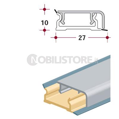 Alzatina in alluminio asta 4000 mm | 0044292 | Nobili ...