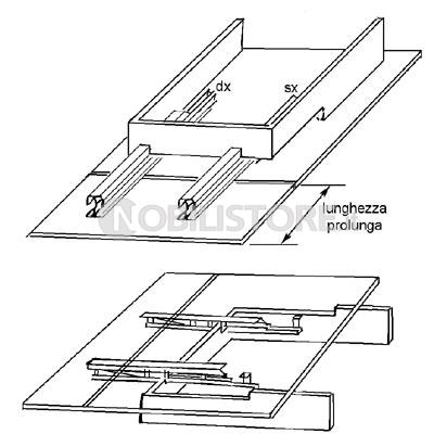 Guida per tavolo con telaio allunga laterale - Nobili Ferramenta