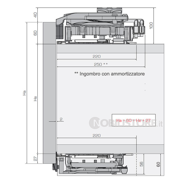 Meccanismo Ante Scorrevoli Complanari.Sistema Di Scorrimento Complanare Per Mobili A 2 Ante Con Peso