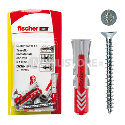 Tasselli in bi-materiale Fischer Duopower con vite