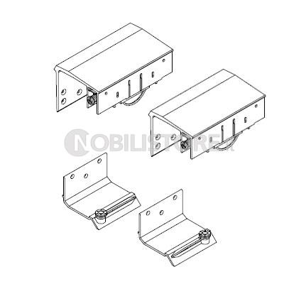 Accessori Per Ante Scorrevoli Armadio.Guarnitura Per Anta Esterna Master Universal H 33 Caimi Export Nobili Ferramenta